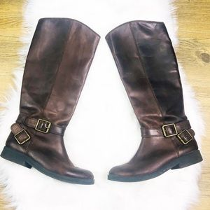 Lucky Brand Brown Leather Riding Boots Size 6